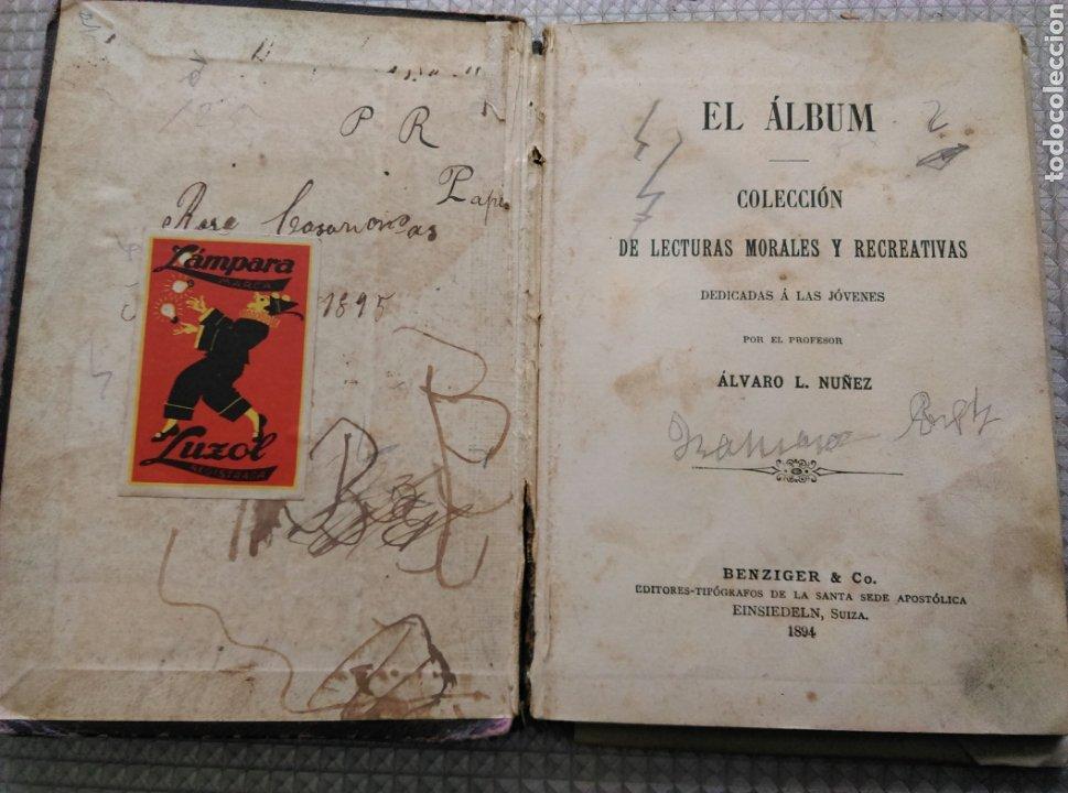 Libros antiguos: El Álbum colección 1894 lecturas Morales y recreativas - Foto 2 - 182482127