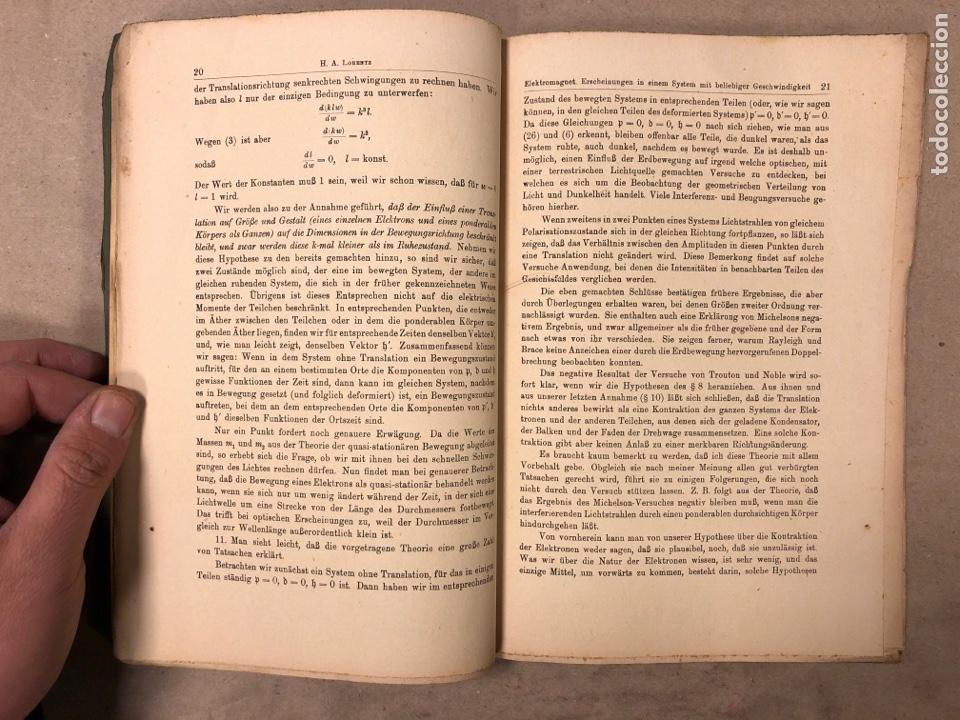 Libros antiguos: DAS RELATIVITATSPRINZIP. H.A. LORENTZ - A. EINSTEIN - H. MINKOWSKI. 1922 VERLAG UND DRUCK VON B.G. - Foto 4 - 182546681