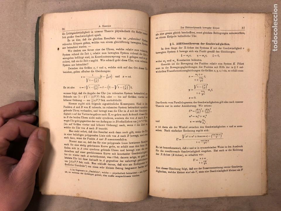 Libros antiguos: DAS RELATIVITATSPRINZIP. H.A. LORENTZ - A. EINSTEIN - H. MINKOWSKI. 1922 VERLAG UND DRUCK VON B.G. - Foto 5 - 182546681