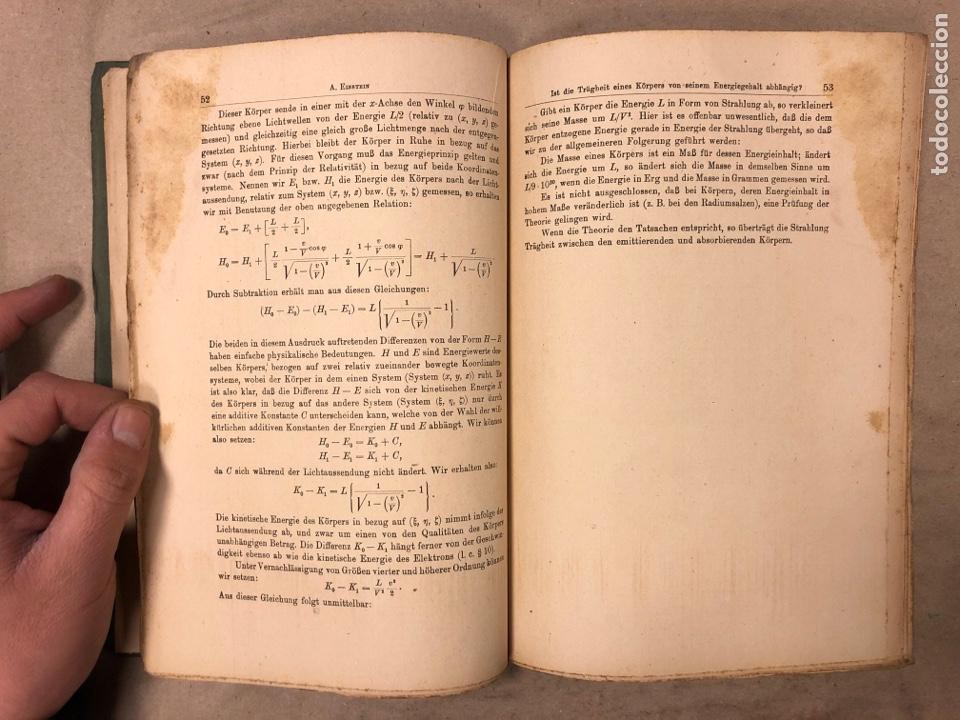 Libros antiguos: DAS RELATIVITATSPRINZIP. H.A. LORENTZ - A. EINSTEIN - H. MINKOWSKI. 1922 VERLAG UND DRUCK VON B.G. - Foto 6 - 182546681