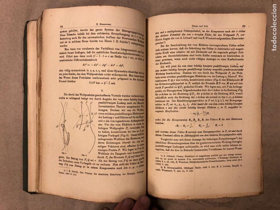 Libros antiguos: DAS RELATIVITATSPRINZIP. H.A. LORENTZ - A. EINSTEIN - H. MINKOWSKI. 1922 VERLAG UND DRUCK VON B.G. - Foto 7 - 182546681