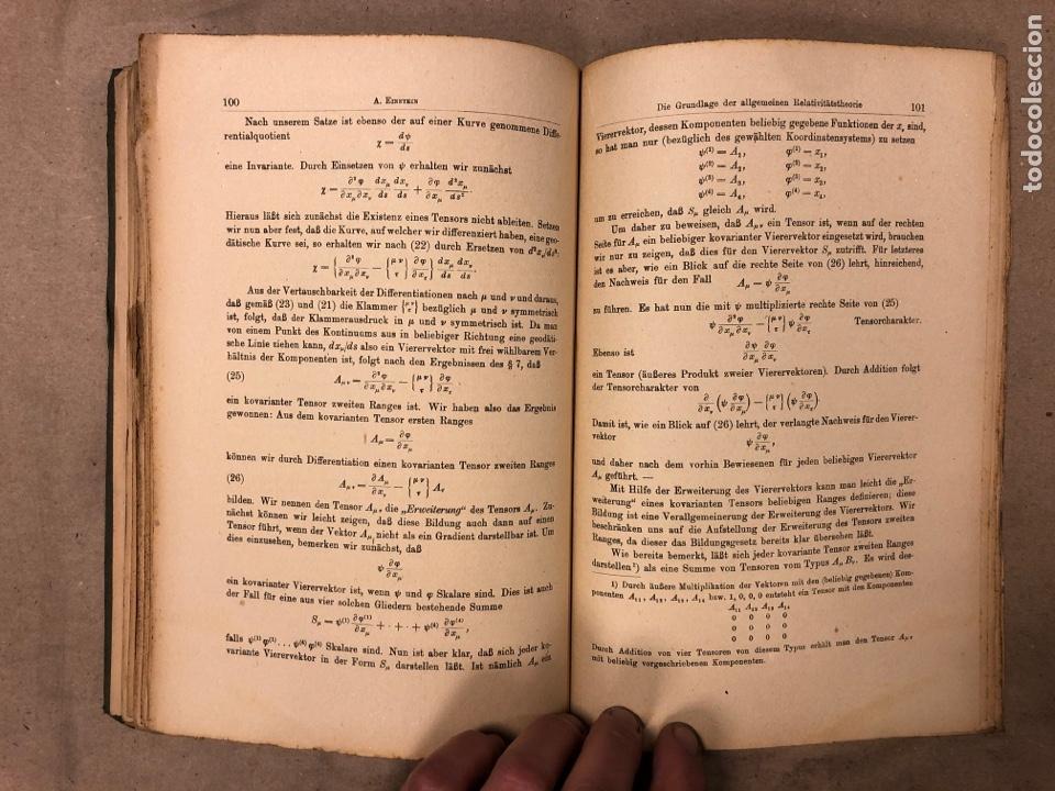 Libros antiguos: DAS RELATIVITATSPRINZIP. H.A. LORENTZ - A. EINSTEIN - H. MINKOWSKI. 1922 VERLAG UND DRUCK VON B.G. - Foto 8 - 182546681