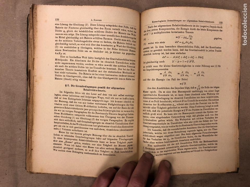 Libros antiguos: DAS RELATIVITATSPRINZIP. H.A. LORENTZ - A. EINSTEIN - H. MINKOWSKI. 1922 VERLAG UND DRUCK VON B.G. - Foto 9 - 182546681