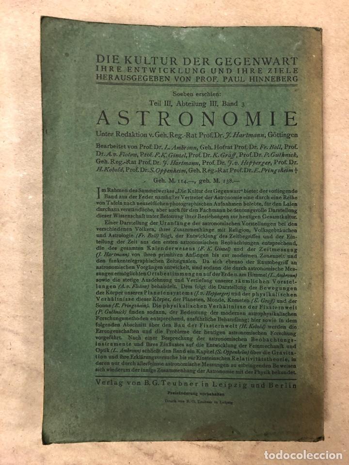 Libros antiguos: DAS RELATIVITATSPRINZIP. H.A. LORENTZ - A. EINSTEIN - H. MINKOWSKI. 1922 VERLAG UND DRUCK VON B.G. - Foto 10 - 182546681