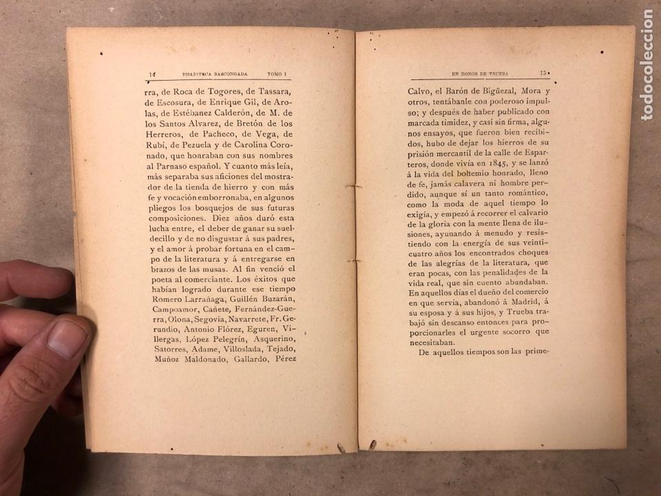 Libros antiguos: EN HONOR DE TRUEBA. VV.AA. BIBLIOTECA BASCONGADA TOMO I. 1896 (BILBAO). 211 PÁGINAS - Foto 3 - 182548241