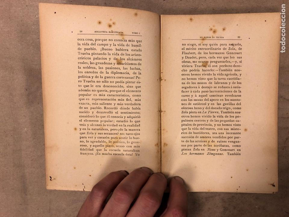 Libros antiguos: EN HONOR DE TRUEBA. VV.AA. BIBLIOTECA BASCONGADA TOMO I. 1896 (BILBAO). 211 PÁGINAS - Foto 5 - 182548241