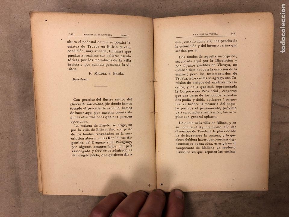 Libros antiguos: EN HONOR DE TRUEBA. VV.AA. BIBLIOTECA BASCONGADA TOMO I. 1896 (BILBAO). 211 PÁGINAS - Foto 6 - 182548241