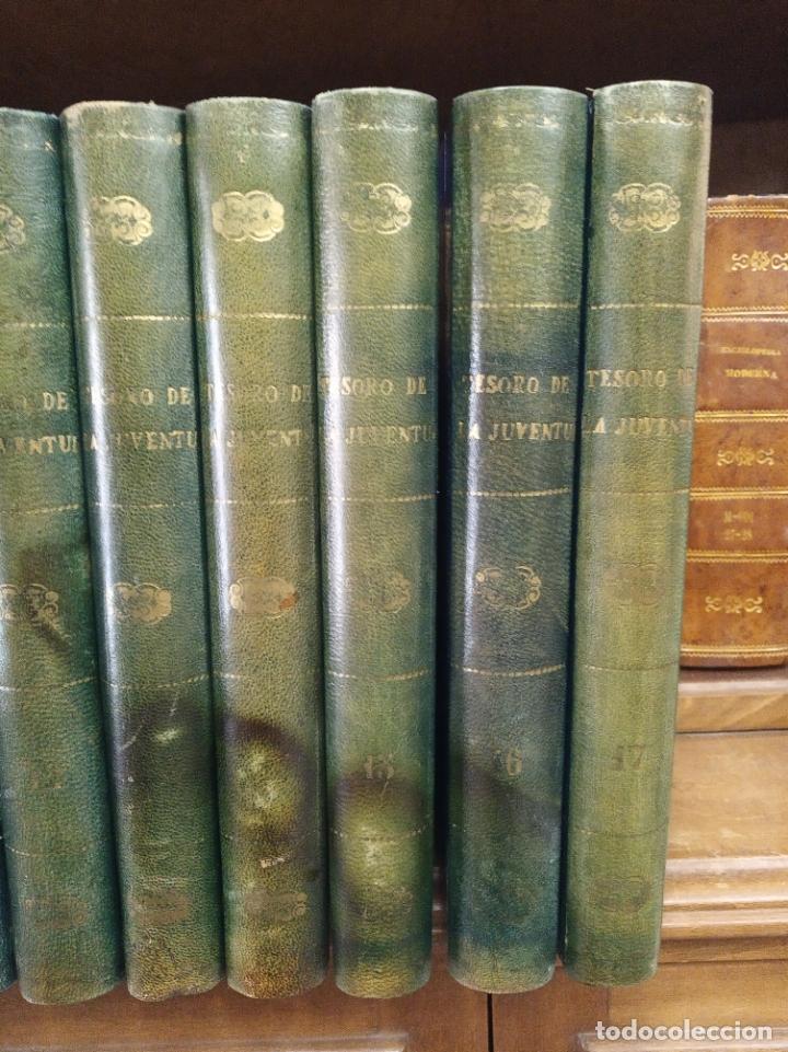 Libros antiguos: Colección Tesoro de la juventud. 17 tomos. Walter Jackson, Editor. Madrid. Suc. de Rivadeneyra. - Foto 5 - 182605790