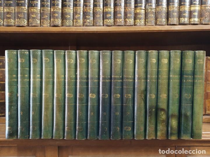 COLECCIÓN TESORO DE LA JUVENTUD. 17 TOMOS. WALTER JACKSON, EDITOR. MADRID. SUC. DE RIVADENEYRA. (Libros Antiguos, Raros y Curiosos - Literatura Infantil y Juvenil - Otros)