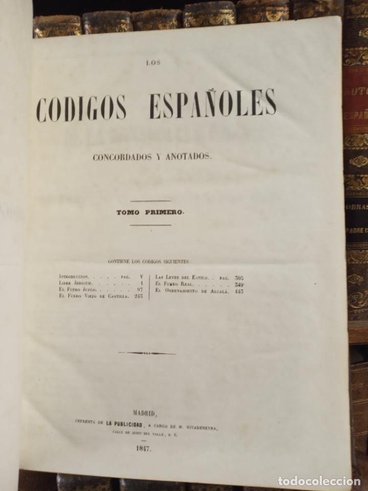 Libros antiguos: Los códigos españoles concordados y anotados. 5 tomos. Madrid. 1847. Imp. La publicidad. - Foto 3 - 182611098