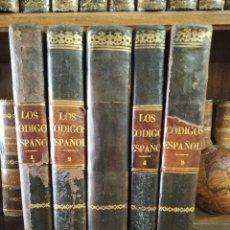 Libros antiguos: LOS CÓDIGOS ESPAÑOLES CONCORDADOS Y ANOTADOS. 5 TOMOS. MADRID. 1847. IMP. LA PUBLICIDAD.. Lote 182611098
