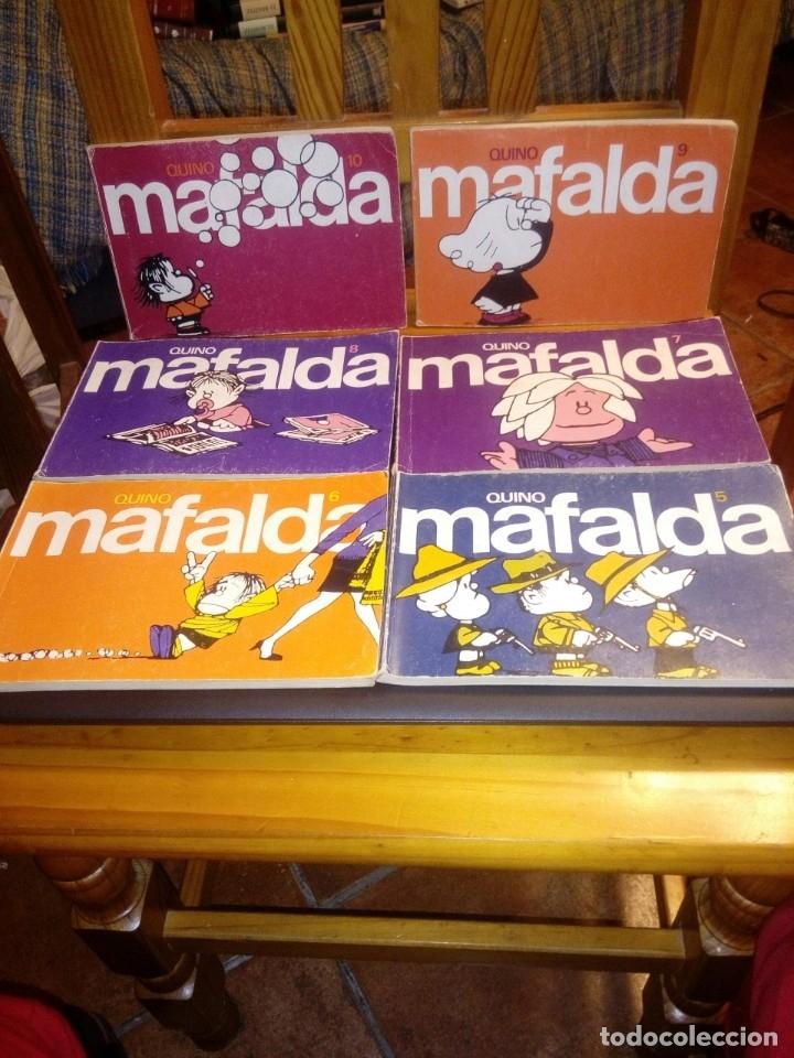 Libros antiguos: Lote completo cuadernos Mafalda - Quino -11 ud.- del número 0 al 10 - Foto 2 - 182657840
