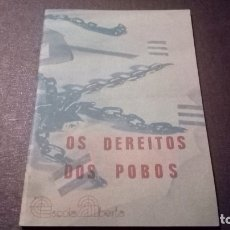 Livres anciens: OS DEREITOS DOS POBOS. Lote 182720173