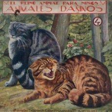 Libros antiguos: EL REINO ANIMAL PARA NIÑOS SOPENA : ANIMALES DAÑINOS - 4 VOLÚMENES. Lote 213902666