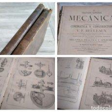 Libros antiguos: 1887: TRATADO GENERAL DE MECÁNICA PARA USO DE INGENIEROS, CONSTRUCTORES, MAQUINISTAS. ATLAS Y TOMO 2. Lote 182761702