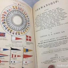 Libros antiguos: SEAMANSHIP INCLUDING NAMES OF PRINCIPAL PARTS OF A SHIP 1874 APAREJO Y MANIOBRA VELEROS DESPLEGABLES. Lote 182793100