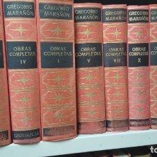 Libros antiguos: AUT.- G. MARAÑON, TITULO, OBRAS COMPLETAS, 9 TOMOS,JMOLINA1946. Lote 182864916