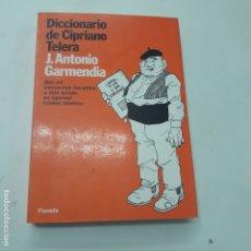 Libros antiguos: DICIONARIO DE CIPRIANO TELERA J.ANTONIO GARMENDIA . Lote 182909048