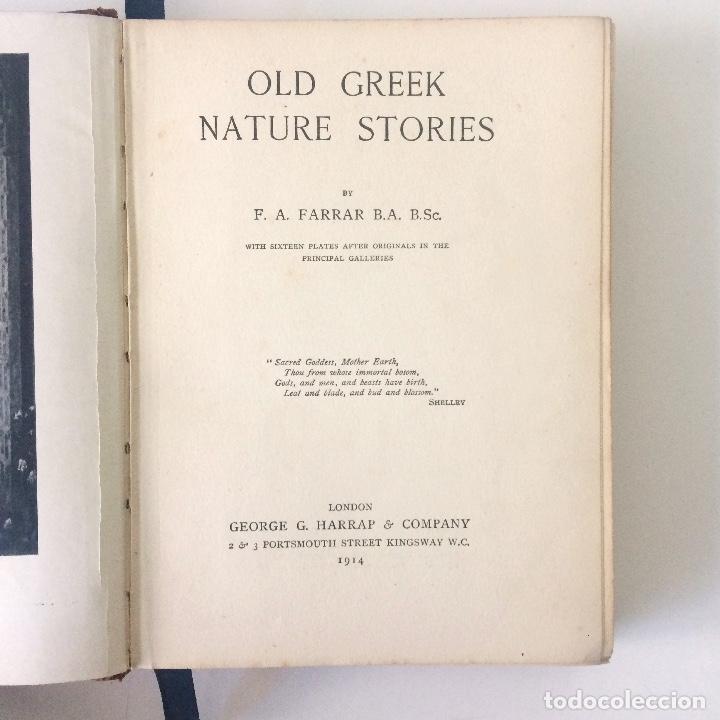 Libros antiguos: LIBRO OLD GREEK NATURE STORIES (ANTIGUAS HISTORIAS DE LA NATURALEZA GRIEGA) - FARRAR - HARRAP - 1914 - Foto 3 - 182953241