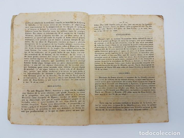 Libros antiguos: BREVE HISTÓRIA FILÓSOFOS QUE SE HALLAN EN EL MUSEO ( ZAFONT FERRER, 1841 ) - Foto 4 - 182954936