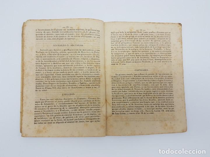 Libros antiguos: BREVE HISTÓRIA FILÓSOFOS QUE SE HALLAN EN EL MUSEO ( ZAFONT FERRER, 1841 ) - Foto 5 - 182954936