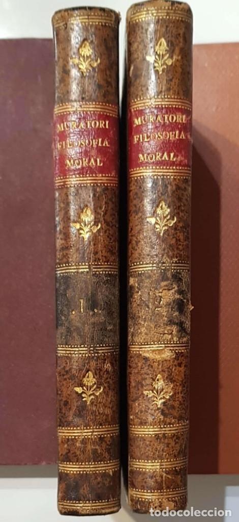 LUIS ANTONIO MURATORI. LA FILOSOFÍA MORAL. 2 VOLS. MADRID, IMPRENTA IBARRA, 1780 (Libros Antiguos, Raros y Curiosos - Pensamiento - Otros)