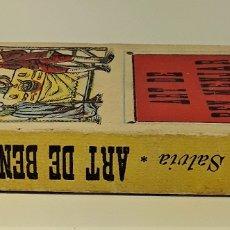 Libros antiguos: ART DE BEN MENJAR. MARTA SALVIA. IMP. R. DURAN I ALSINA. BARCELONA.. Lote 182971628