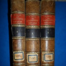 Libros antiguos: TRADICIONES PERUANAS, TOMOS 2, 3 Y 5, RICARDO PALMA, ED. ESPASA-CALPE, 1932. Lote 182997316