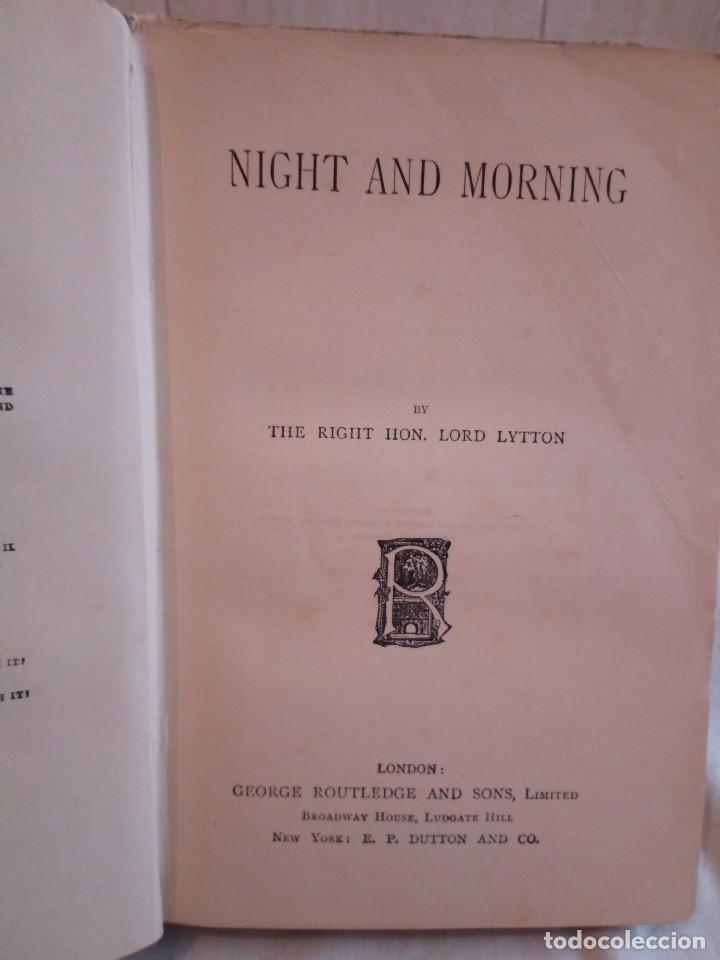 Libros antiguos: 7-.NIGHT AND MORNING, Lord Litton, Nueva York 1851, en ingles - Foto 3 - 183036511