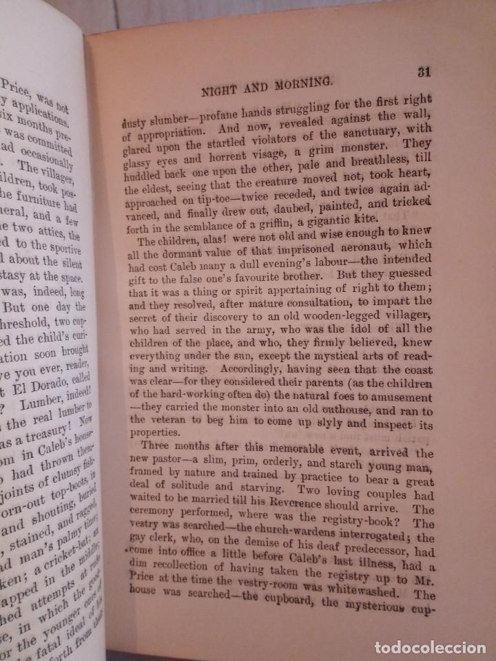 Libros antiguos: 7-.NIGHT AND MORNING, Lord Litton, Nueva York 1851, en ingles - Foto 7 - 183036511