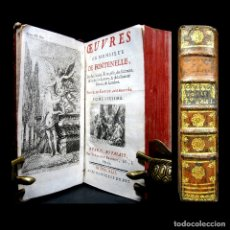 Libros antiguos: AÑO 1742 FONTENELLE SOLO 6 EN EL MUNDO ELOGIOS DE ACADÉMICOS MUERTOS GRABADO FRONTISPICIO RARO. Lote 183041570