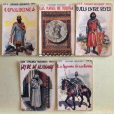 Libros antiguos: EPISODIOS HISTORICOS- SOPENA- BARCELONA- LOTE 5 EJEMPLARES- VER DETALLE- CA 1.920. Lote 183076327
