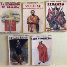 Libros antiguos: EPISODIOS HISTORICOS- SOPENA- BARCELONA- LOTE 5 EJEMPLARES- VER DETALLE- CA 1.920. Lote 183076756
