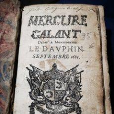 Libros antiguos: MERCURE GALANT, 1681, S. XVII. Lote 183178027