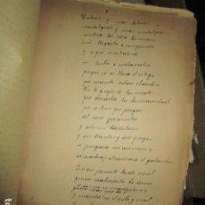 Libros antiguos: CARLOS HERRERO MUÑOZ MANISCRITO POESIA REFLEXION INEDITO ORIGINAL DOLORES Y MAS DOLORES. Lote 183219973
