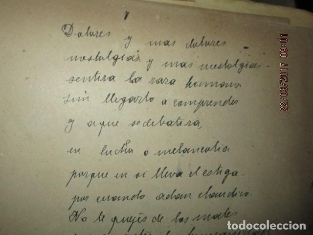 Libros antiguos: CARLOS HERRERO MUÑOZ MANISCRITO POESIA REFLEXION inedito original Dolores y mas dolores - Foto 3 - 183219973