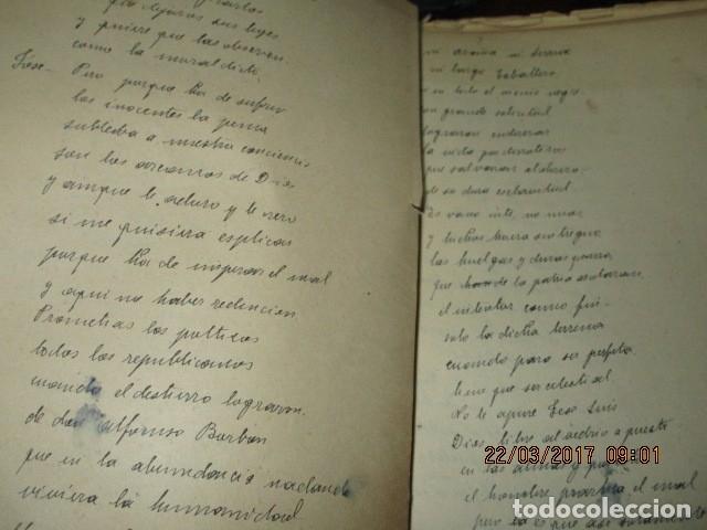 Libros antiguos: CARLOS HERRERO MUÑOZ MANISCRITO POESIA REFLEXION inedito original Dolores y mas dolores - Foto 4 - 183219973