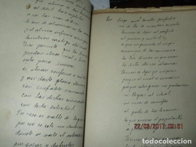 Libros antiguos: CARLOS HERRERO MUÑOZ MANISCRITO POESIA REFLEXION inedito original Dolores y mas dolores - Foto 5 - 183219973