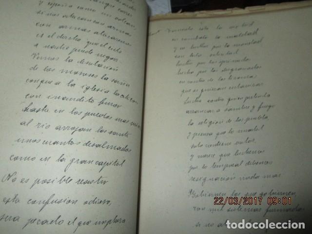 Libros antiguos: CARLOS HERRERO MUÑOZ MANISCRITO POESIA REFLEXION inedito original Dolores y mas dolores - Foto 6 - 183219973