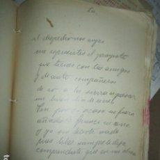 Libros antiguos: CARLOS HERRERO MUÑOZ MANISCRITO FIRMADO POESIA REFLEXION INEDITO ORIGINAL TITULO LA. Lote 183220387