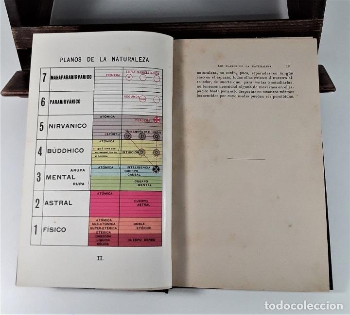 Libros antiguos: EL HOMBRE VISIBLE É INVISIBLE. C. W. LEADBEATER. BARCELONA. 1908. - Foto 5 - 183253330
