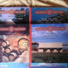 Libros antiguos: LOTE DE 6 TITULOS LAS RUTAS DEL VINO EN ESPAÑA - BIBLIOTECA METRÓPOLI. Lote 183271025