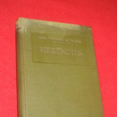 Libros antiguos: HERENCIES, DE MARIA DOMENECH DE CAÑELLAS - SOCIETAT CATALANA D'EDICIONS 1925. Lote 183290077