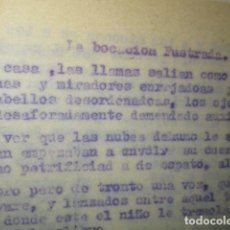 Libros antiguos: LA VOCACION FUSTRADA ORIGINAL E INEDITO DE CARLOS HERRERO MUÑOZ. Lote 183346085