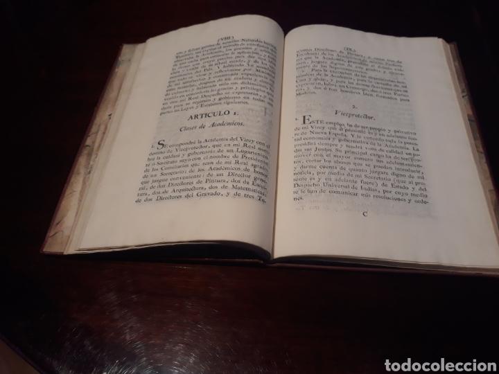 Libros antiguos: ESTATUTOS DE LA REAL ACADEMIA DE SAN CARLOS DE NUEVA ESPAÑA - EN LA IMPRENTA NUEVA MEXICANA - 1785 - Foto 10 - 183384338