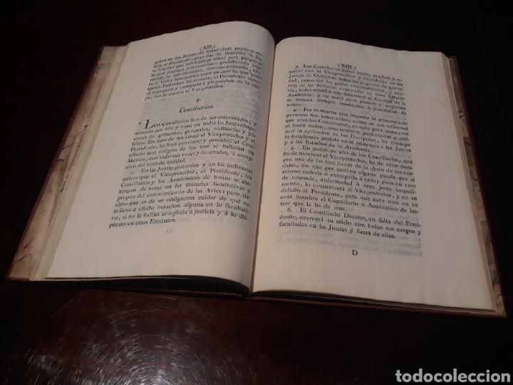 Libros antiguos: ESTATUTOS DE LA REAL ACADEMIA DE SAN CARLOS DE NUEVA ESPAÑA - EN LA IMPRENTA NUEVA MEXICANA - 1785 - Foto 12 - 183384338