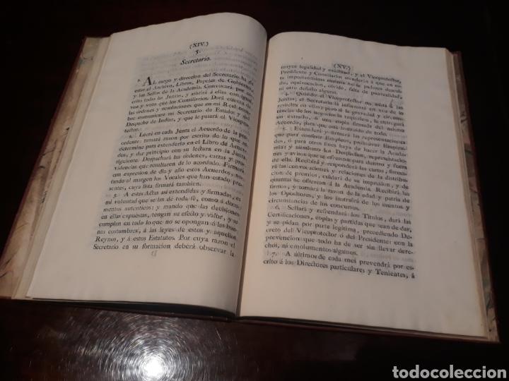 Libros antiguos: ESTATUTOS DE LA REAL ACADEMIA DE SAN CARLOS DE NUEVA ESPAÑA - EN LA IMPRENTA NUEVA MEXICANA - 1785 - Foto 13 - 183384338