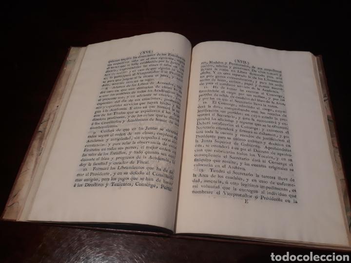 Libros antiguos: ESTATUTOS DE LA REAL ACADEMIA DE SAN CARLOS DE NUEVA ESPAÑA - EN LA IMPRENTA NUEVA MEXICANA - 1785 - Foto 14 - 183384338
