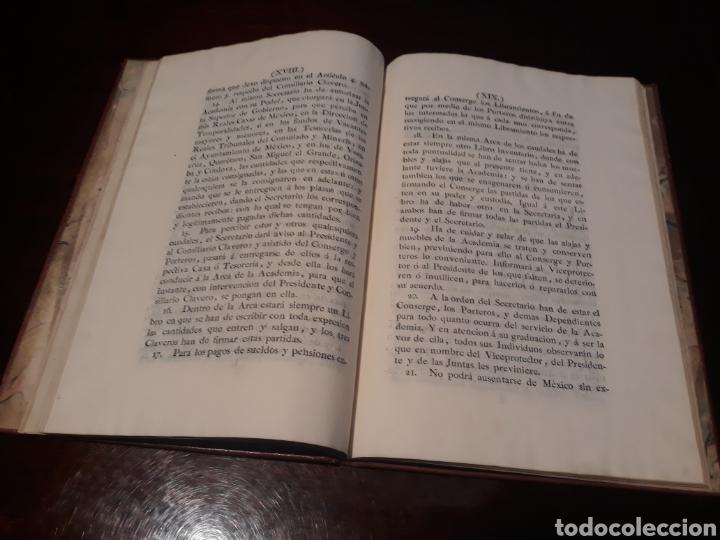 Libros antiguos: ESTATUTOS DE LA REAL ACADEMIA DE SAN CARLOS DE NUEVA ESPAÑA - EN LA IMPRENTA NUEVA MEXICANA - 1785 - Foto 15 - 183384338