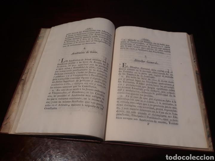 Libros antiguos: ESTATUTOS DE LA REAL ACADEMIA DE SAN CARLOS DE NUEVA ESPAÑA - EN LA IMPRENTA NUEVA MEXICANA - 1785 - Foto 16 - 183384338